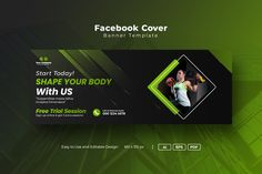 Facebook Cover Template, Banner Template, Business Marketing, Banners, Super Easy, Digital Marketing, Highlights, Fonts, Social Media