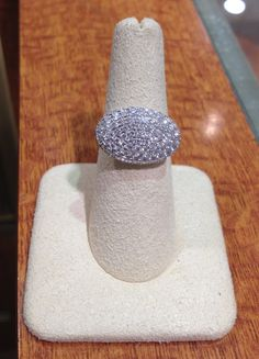 A pretty pave diamond ring with 96 diamonds totaling 1.71ctw in 18k white gold? Don't mind if we do! Get it now at Becker's.