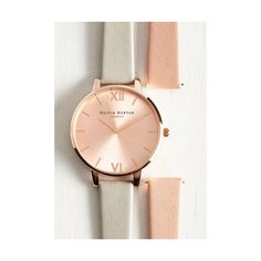 Olivia Burton Menswear Inspired Fully Punctual Watch Set ($145) ❤ liked on Polyvore featuring jewelry, watches, accessories, holiday watches, pink gold jewelry, rose gold watches, pink jewelry and olivia burton