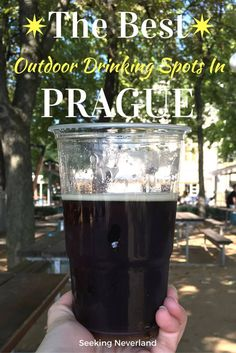 Planning a trip to Prague in the summertime? Here is where to find the best beer gardens in Prague, Czech Republic   Beer Gardens Prague   Prague in the summer   Europe beer gardens