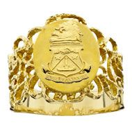 """ADPi crest ring: """"Sophronia."""" Wish I could afford it."""