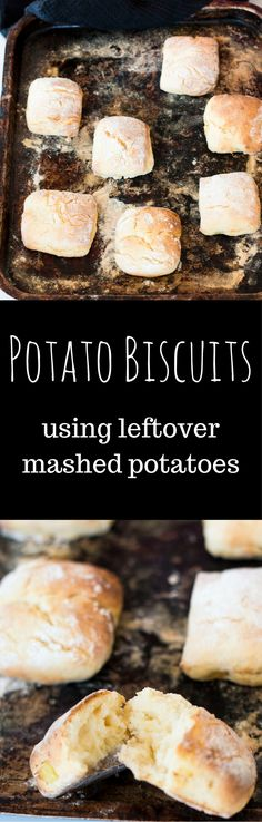 Potato Biscuits using Leftover Mashed Potatoes. Light and fluffy pillows of deliciousness are the perfect way to use up leftover mash via @wholefoodbellies