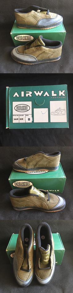 d19834e8e3432e Childrens Vintage Shoes 182034  Nos Vintage Airwalk Galaxie Olive Color Size  8 Guy S Skateboard