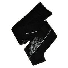 ZOHARA FLOWERS Back Seam Black Leggings ❤ liked on Polyvore featuring pants, leggings, zohara, flower print pants, floral printed pants, floral print leggings and flower print leggings