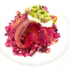 Smoked Salmon and Couscous Salad with Goats Curd