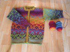 Ravelry: allover-al's Kauni rainbow cardigan