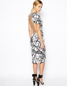 ASOS | ASOS Scaffold Open Back Dress at ASOS