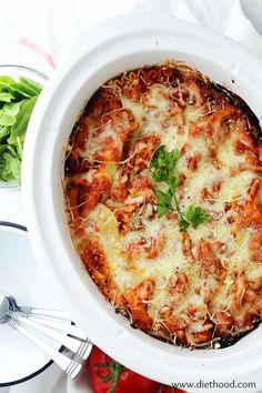 Spinach and Feta Crock Pot Lasagna