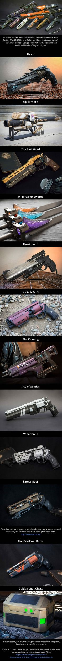 11 real-life weapons from Destiny by Eric Newgard Cosplay Weapons, Sci Fi Weapons, Concept Weapons, Weapons Guns, Fantasy Weapons, Armor Concept, Cyberpunk, Destiny Game, Destiny Bungie
