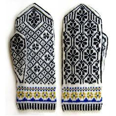 Knit Mittens, Knitted Gloves, Knitting Socks, Knitting Needles, Fair Isle Knitting, Knitting Projects, Cross Stitch Embroidery, Knit Crochet, Crochet Patterns