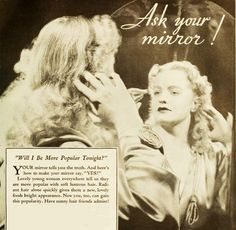 Ask your mirror! #vintage #1930s #hair #ads