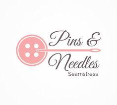 Premade Boutique Logo Design, Pink Sewing Logo Design, Ready Made Small Business Logo