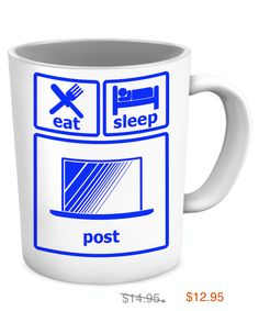 eat sleep post mug Earn Money From Home, Make Money Online, How To Make Money, Making Extra Cash, Part Time Jobs, For Facebook, Work From Home Jobs, Online Work, Eat Sleep