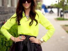 Adorable! Top: Nordstrom | Skirt: Asos | Sunnies: House of Harlow | Shoes: Zara | Jewelry: c/o Poshlocket | Watch: Michael Kors | Bag: c/o Flourish Boutique | Lips: Hip n' Happy {liner}, Royal Azalea {lipstick}