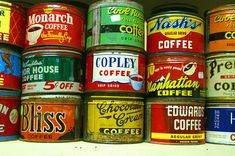 Antique / vintage / retro   Coffee Cans   Home decor Kitchen Hgtv Antiques Coffee lover love  Addiction Addicted to