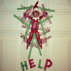 Elf on the Shelf Naughty Tape Idea
