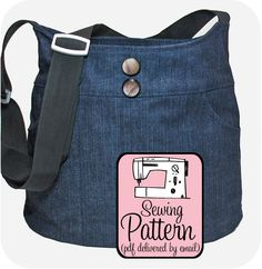 Flirty Skirt Shoulder Bag Sewing Pattern - Sew It & Sell It!  A cute, versatile, & functional handbag.  A bag for everyday.  A purse to hold everything. #sewing