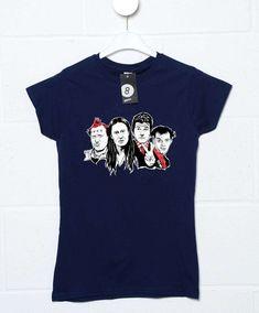 Vyvyan & Neil & Mike & Rick Womens T Shirt - Navy / 14-16