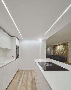 Ceiling Design Living Room, Bedroom False Ceiling Design, Home Room Design, Home Interior Design, Interior Decorating, Linear Lighting, Luxury Lighting, Interior Lighting, Hidden Lighting