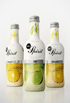 Spirit package design #bottle #white