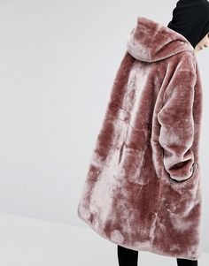 Story Of Lola Oversized Parka Jacket In Faux Fur at asos.com                                                                                                                                                                                 More