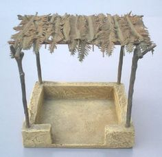 "Ancient Market Stall by JG Miniatures Diorama Manufacturer. This was formerly called ""Egyptian Shelter"" and is great for many uses! Fontanini Nativity, Food Stands, Ceramic Houses, Market Stalls, Military Diorama, Clay Food, Dollhouse Miniatures, Egyptian, Nativity Scenes"