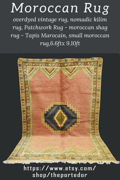 Moroccan Rug - overdyed vintage rug! Colorful moroccan rugs, moroccan rug living room, vintage moroccan rugs, moroccan rug bedroom, pink moroccan rug, black and white moroccan rug, white moroccan rug, red moroccan rug, grey moroccan rug, moroccan rug decor, round moroccan rug, moroccan rug wall hanging, boho moroccan rug, moroccan rug office, plush moroccan rug, small moroccan rug, outdoor moroccan rug. #vintagemoroccanrugs #moroccanrugbedroom #whitemoroccanrug #modernmoroccanrug Moroccan Berber Rug, Rug Inspiration, Rug Texture, Patchwork Rugs, Rug Shapes, Wool Area Rugs, Vintage Rugs, Shag Rug, Plush
