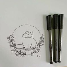 Great drawing of Simon's Cat by @ck.art.82 for today's #inktober  We want to see more: tag your artwork with #simonscat and we will share our favorites here. #catlover #animation #fanart #drawing #cutecats