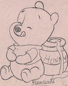 Art Sketches 91663 Renata's little things: Risks Teddy Bear Puff Baby . Disney Drawings Sketches, Cute Disney Drawings, Girl Drawing Sketches, Cute Easy Drawings, Art Drawings Beautiful, Art Drawings Sketches Simple, Pencil Art Drawings, Cartoon Drawings, Animal Drawings