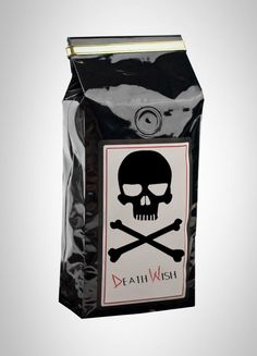 Death Wish Cof­fee is the most high­ly caf­feinat­ed pre­mi­um fair trade dark roast organ­ic cof­fee in the world. This is Extreme Cof­fee, not for the weak