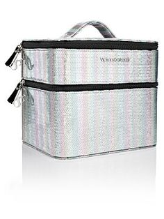 Sequin Stripe Double Train Case. Kind of amazing.... What do you think ANG????