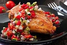 Broiled Chicken Breasts with Avocado Salsa | The Dr. Oz Show | Follow this Dr. Oz Recipe board Now and Make it later! -- Pump up the flavor at dinnertime with this zesty dish!