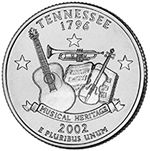 The Tennessee Statehood Quarter depicts a trumpet, a guitar, and a fiddle, each celebrating a different piece of the state's rich musical heritage. The Tennessee Statehood quarter is the in the Statehood series. Rare Coins Worth Money, Valuable Coins, State Of Tennessee, Nashville Tennessee, Tennessee Waltz, Visit Nashville, State Quarters, Quarter Dollar, Coin Shop