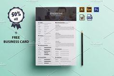 Resume + Cover Letter + Bonus by JigsawLab on @creativemarket