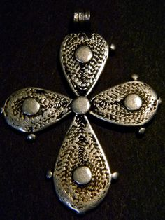 Rare Old Vintage Antique Silver Ethiopian Cross by Luxethnik, $145.00