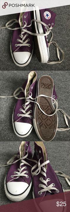 CONVERSE Purple high top converse Converse Shoes Sneakers