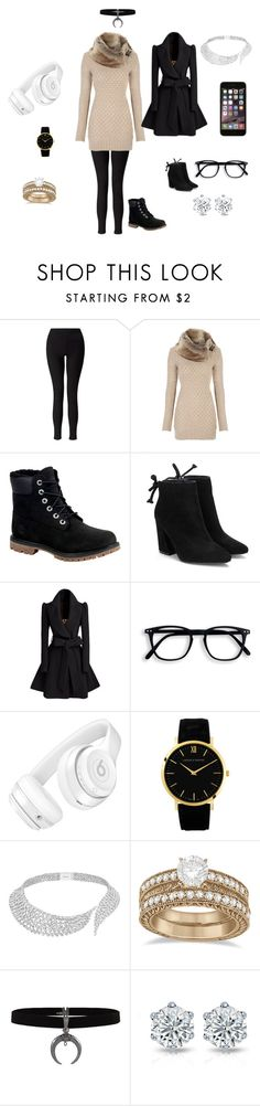 """Untitled #249"" by kaylabeautyful ❤ liked on Polyvore featuring beauty, Miss Selfridge, Timberland, Beats by Dr. Dre, Messika and Allurez"
