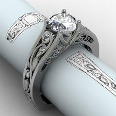Vine & Trellis #engagement ring with beautiful profile Green Lake #jewelryworks
