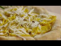 Butternut Squash Pizzas with Rosemary | Watch how to make fun individual pizzas with roasted butternut squash, onions, rosemary, and cheese. A terrific winter pizza—and a tasty alternative to the usual! squash pizza, individu pizza, onion