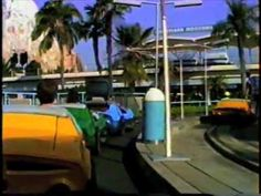 Disneyland-Autopia Cars. 1990. The Whole Ride. With Music. - YouTube
