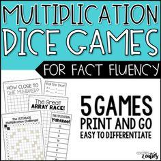 Dice Games for Multiplication Fluency