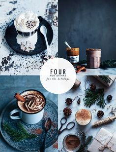 Call me cupcake: Four hot drinks for the holidays: Hot Chocolate with Cinnamon and Orange Liqueur, Easy Gingerbread Latte, Hot Dulce de Leche, and Easy Chai Latte. Enjoy!