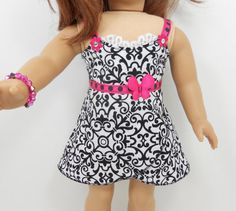 American Girl 18 doll clothes 2 pc dress set with by MegOrisDolls