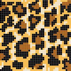 Ravelry: Leopard Spots Chart pattern by Melanie Nordberg Crochet Pixel, Crochet Chart, Crochet Granny, Tapestry Crochet Patterns, Loom Patterns, Beading Patterns, Knitting Charts, Knitting Stitches, Knitting Patterns