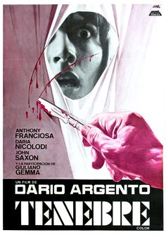 "MP925. ""Tenebre"" Spanish Movie Poster by Jano (Dario Argento 1982) / #Movieposter"