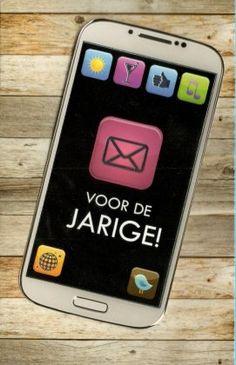 Een berichtje voor de jarige!  Verjaardagskaarten Galaxy Phone, Samsung Galaxy, Phone Cases, Birthday, Style, Paper Board, Swag, Birthdays, Dirt Bike Birthday