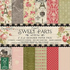 Trimcraft Sweet Paris Paper Pack 72 Pack 6 x 6 >>> Find out more about the great product at the image link.