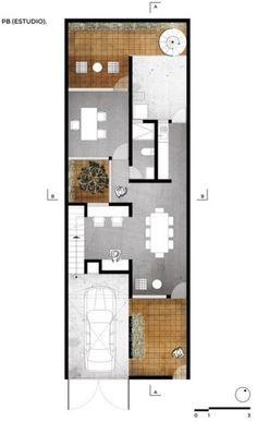 Planos casa de dos pisos pequeña