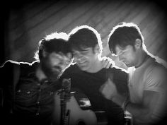 Scott Avett, Bob Crawford, Seth Avett <3 if you're an Avett Brothers fan, you'll understand why I love this photo and these men so much.