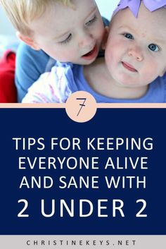 7 Tips For Keeping Everyone Alive And Sane When You Have 2 Under 2 || Learn how to simplify life and make everything easier when you have a toddler and a baby. #babies #routine #babyschedule #motherhood